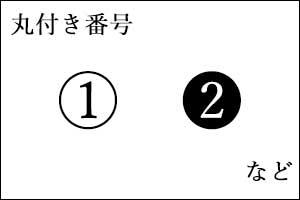 丸付き番号